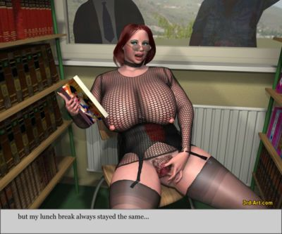 3Darlings Model Nadia at the Library