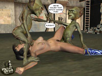 D 觸角 和 外星人 強奸 - 一部分 3