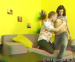 Life like 3d porn action with brunette getting hard cock..