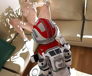 Magnificent babe gets sexual with her robot assistant -..