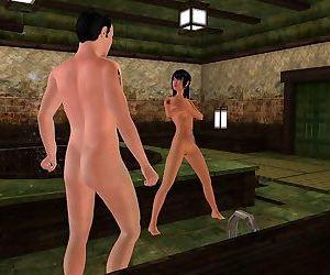 Raunchy 3d animated bathroom meet up fuck - part 259