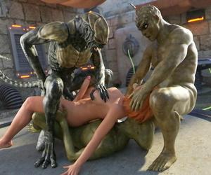 Goldenmaster First Contact - 11 alien gangbang - part 4