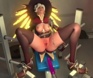 Overwatch - Mercy squirts after..