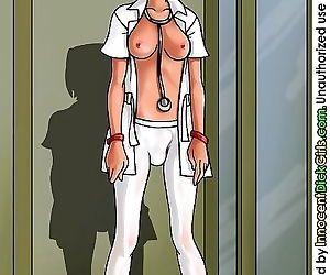 Comics School girl costume till the black.., shemale  cartoon