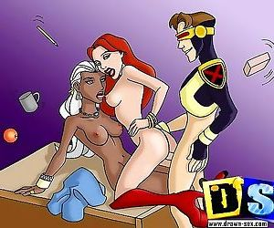 Comics Sex-hungry x-men show their real kinky.. All