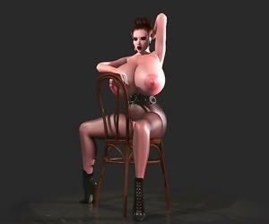 Comics Huge breasted 3d toon shows tits and.., 3d  All