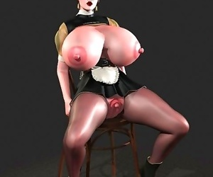 Comics Big breasted 3d hottie shows boobs and.., 3d  toon