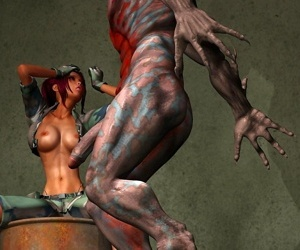 Comics Pretty army chick getting hard ripped.., 3d  monster