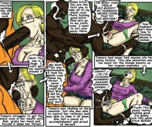 Comics Teach Tamara- illustrated interracial.., forced  blowjob