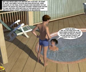 Comics Mom and Son Pool Side- 1st timer, anal  blowjob
