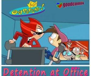 Comics Fairly Odd Parents- Detention At Office comix incest