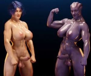 Comics Squarepeg3D- Futa Effect –.., shemale  futanari & shemale & dickgirl