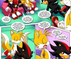 Comics The Prower Family Affair - Foxy Black, furry , sonic the hedgehog  orgy