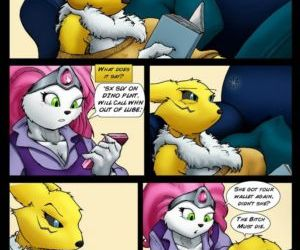 Comics The Legend Of Jenny And Renamon 1, threesome , furry  digimon