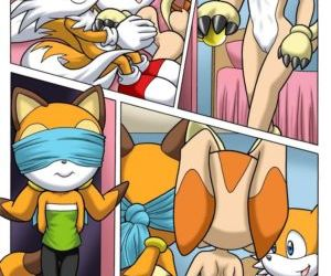 Comics Sonic Project XXX, threesome , furry  sonic the hedgehog