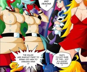 Comics Panty & Stocking Angels vs Demons, gangbang , orgy  bukakke