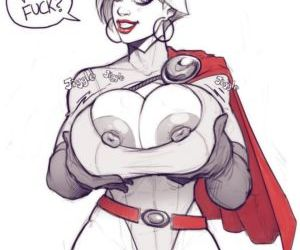 Power Girl On Darkseid