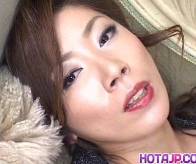 Japanese AV Model has vibrator on..