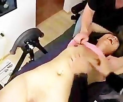 Asian Chick Tickled All Over