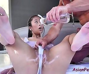 Asian slut oiled and massage for..