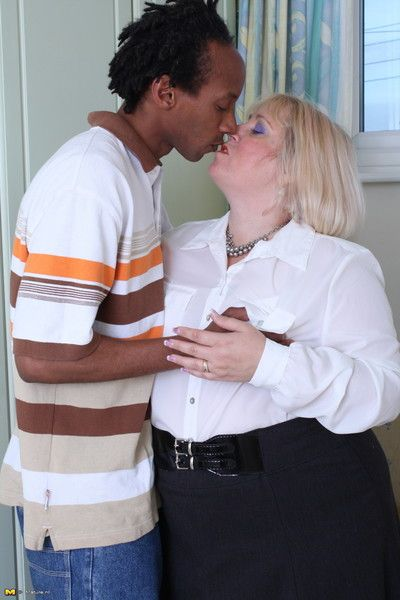 British bbw fooling around with a black man