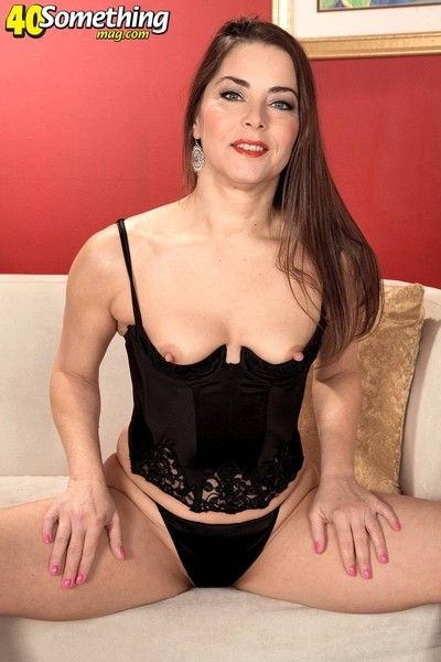 Sexy mature brunette ready for cock