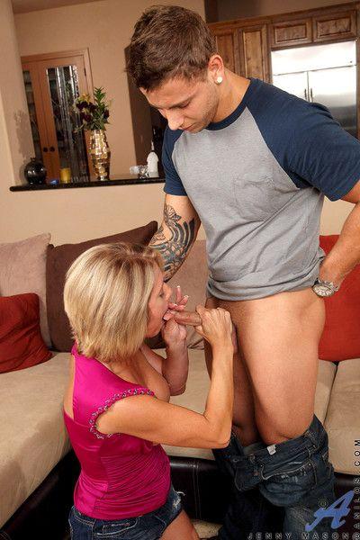 Horny blonde cougar jenny mason enjoys an intense hardcore anal fuck session