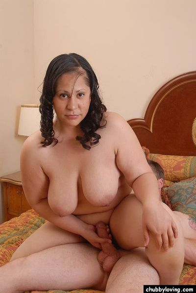 Latina fatty Teedra climbs aboard cock and rides with floppy tits flopping - part 2