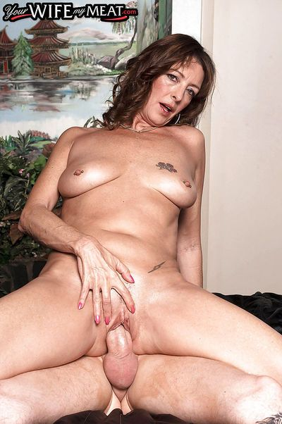 Mature Lucy Holland goes hardcore with younger stud and enjoys facial - part 2