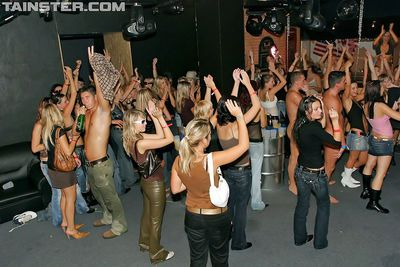 Raunchy european lassies getting down at the night club party - part 2