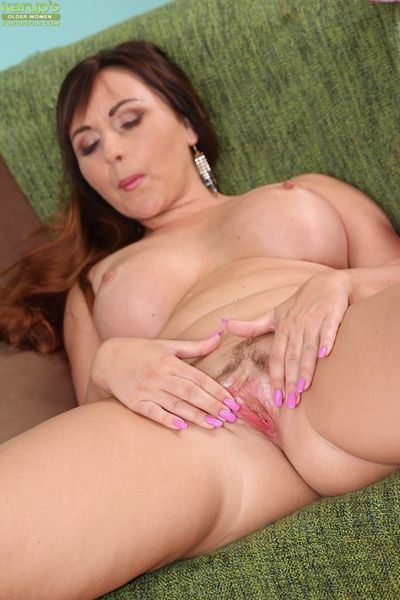 Close up masturbating action features a fatty milf Sabina Black - part 2
