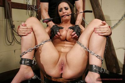 Hot MILF babe gets fucked blindfold in hardcore BDSM sex - part 2