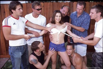 Milf Ashley Blue is getting gangbanged hard by her new lovers