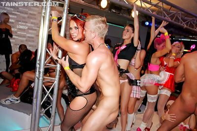 Arousing sluts getting drunk and going wild at the carnival party - part 2