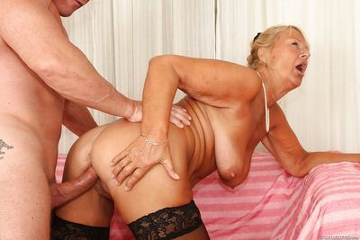 Hardcore fuck with outstanding mature mom Dillon A and her boyfriend