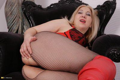 Horny housewife teasing before pleasing