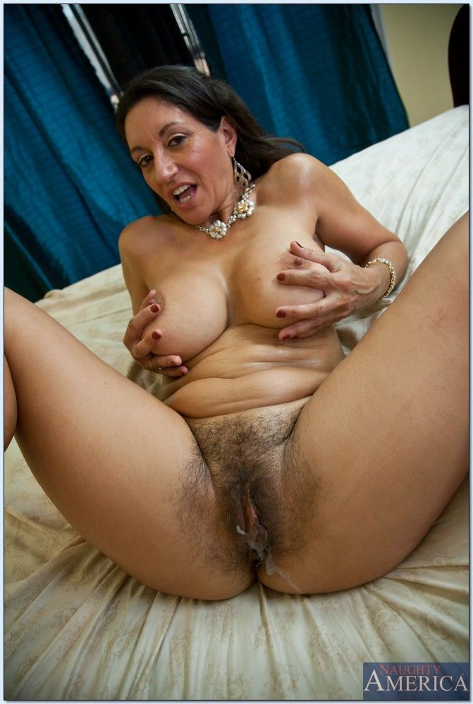 Mature mom with huge breasts Persia Monir gets her hairy cunt fucked