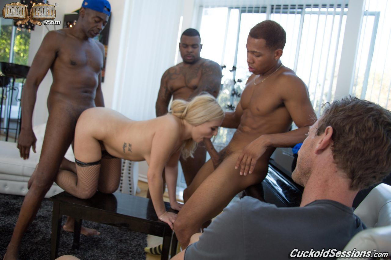 Blonde wife Summer Day opens her asshole for BBC penetration afore her cuckold