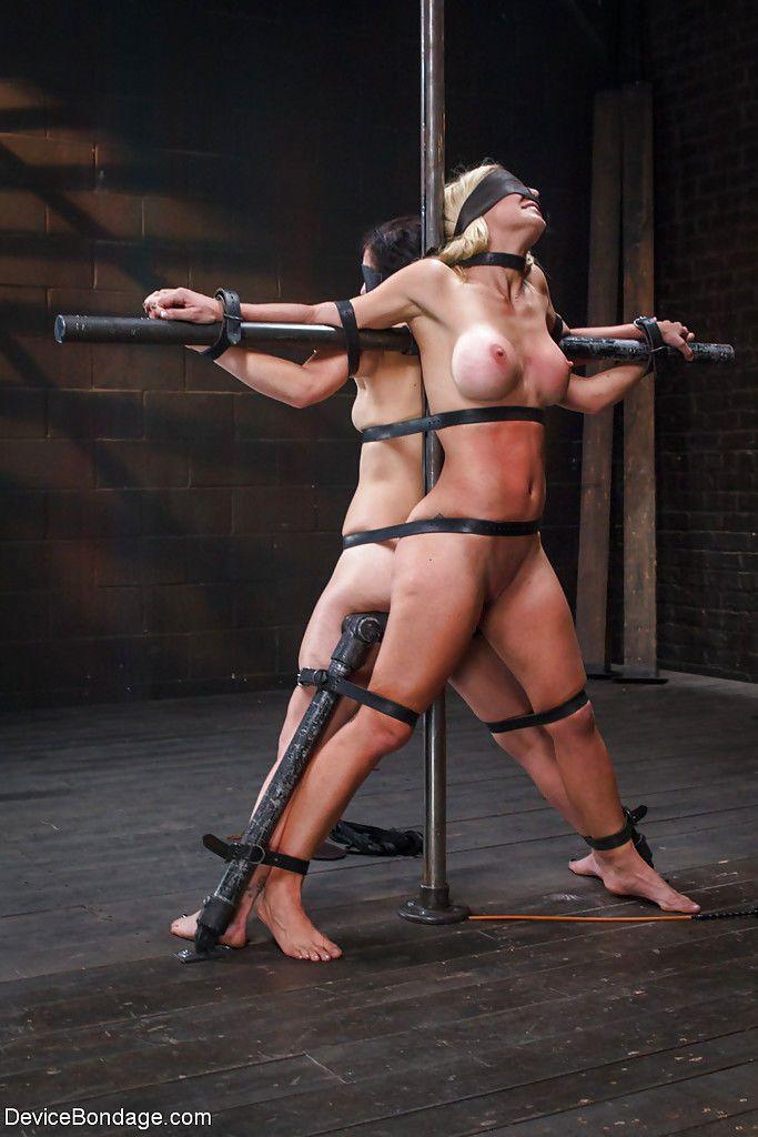 BDSM models Juliette March and Cherie Deville eat each others pussy