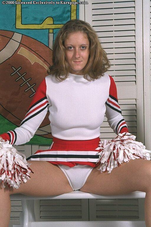 Amateur cheerleader Gabi shows off in her wonderful uniform