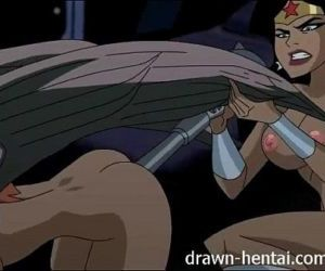 Justice League Hentai - Two chicks for Batman dick - 5 min