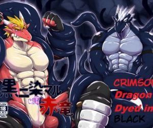 Crimson Dragon Dyed in Black