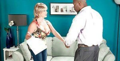 Hot blonde granny Lexi McCain getting boned by large black cock