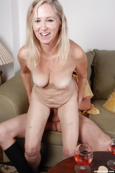 Blonde granny Annabelle is banging with this not so young man - part 2