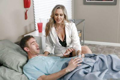 Mature blonde cougar Julia Ann taking hardcore sex in doctors uniform