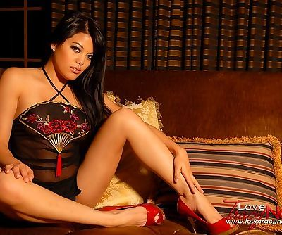 Sheer lingerie is delicate on the..