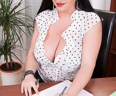 Hot MILF secretary Juliana Simms..