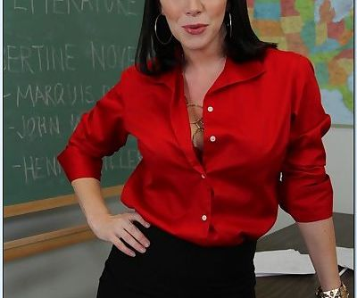 Big busted mature teacher in..