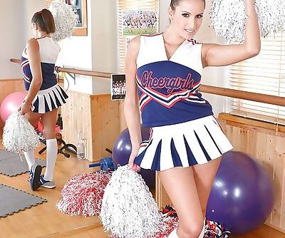 Busty young cheerleader Sensual..