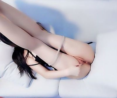 Asian legs up and open pussy